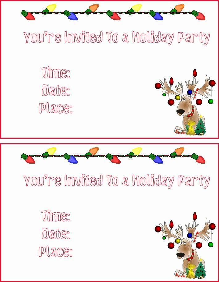 Free Printable Templates For Christmas Invitations
