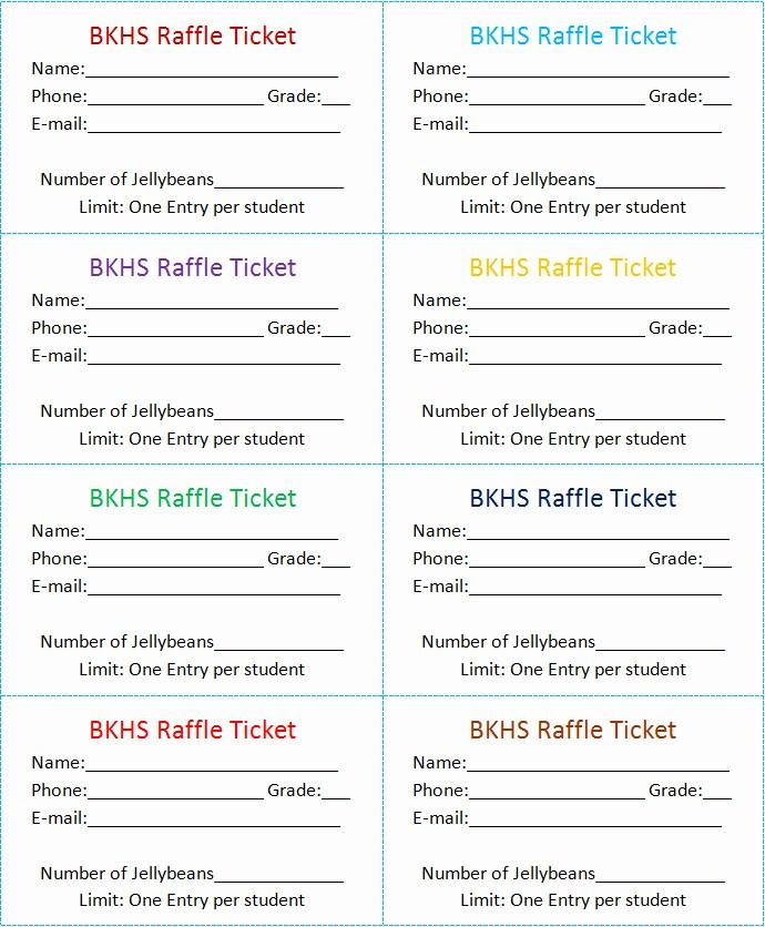 Free Printable Templates For Raffle Tickets