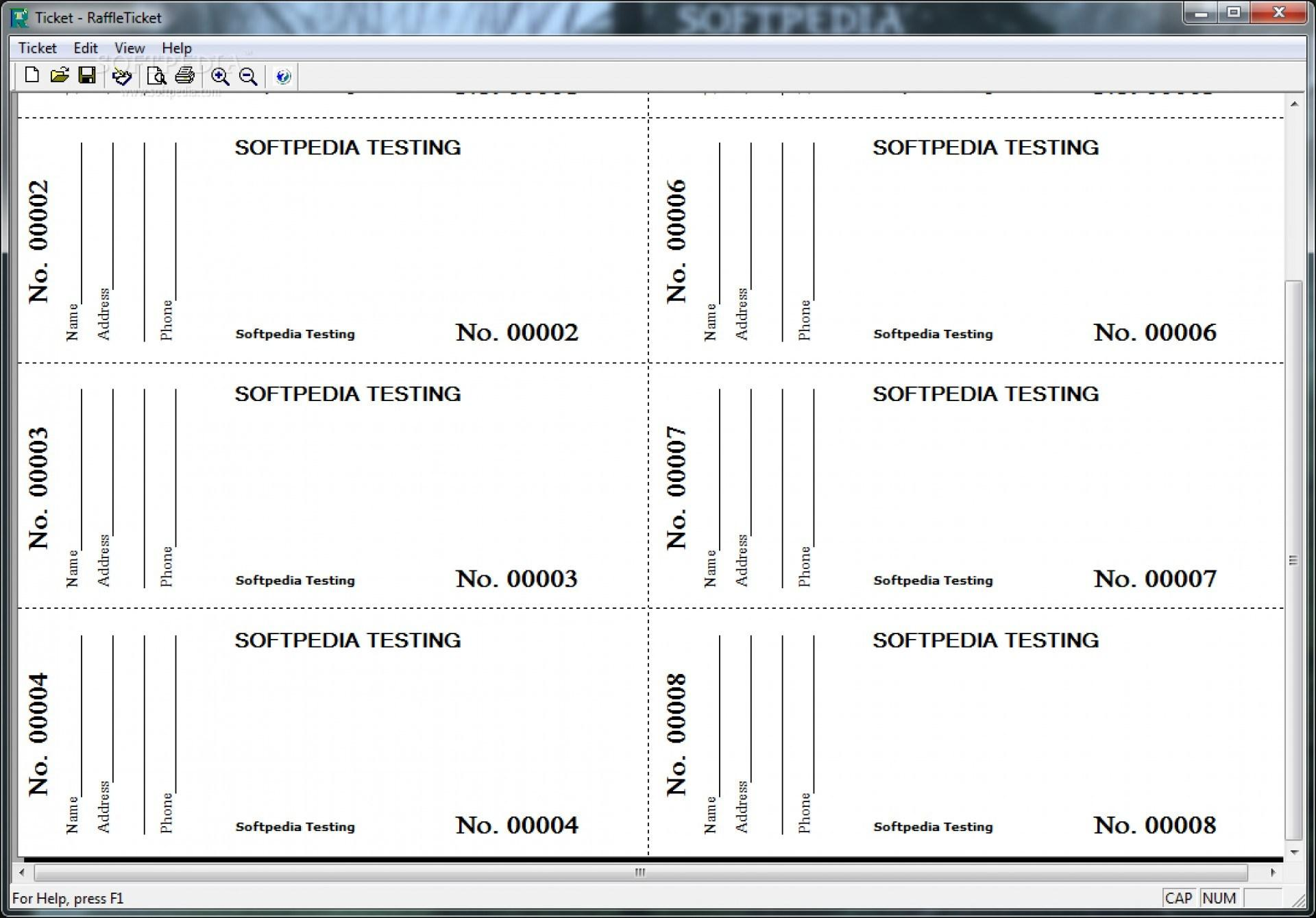 Free Printable Ticket Templates For Mac