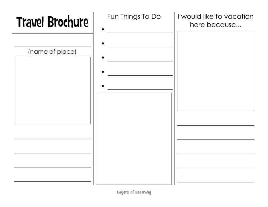 Free Printable Travel Brochure Template