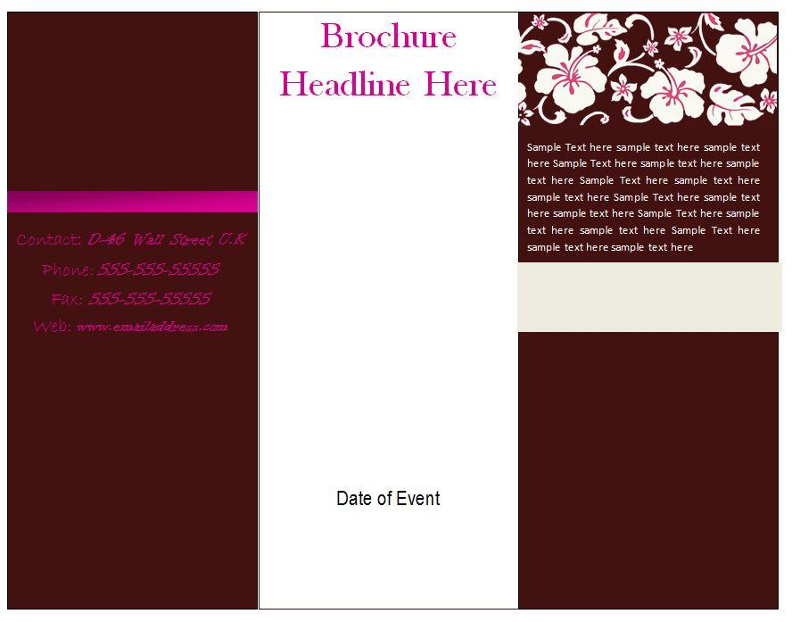 Free Printable Tri Fold Brochures Templates