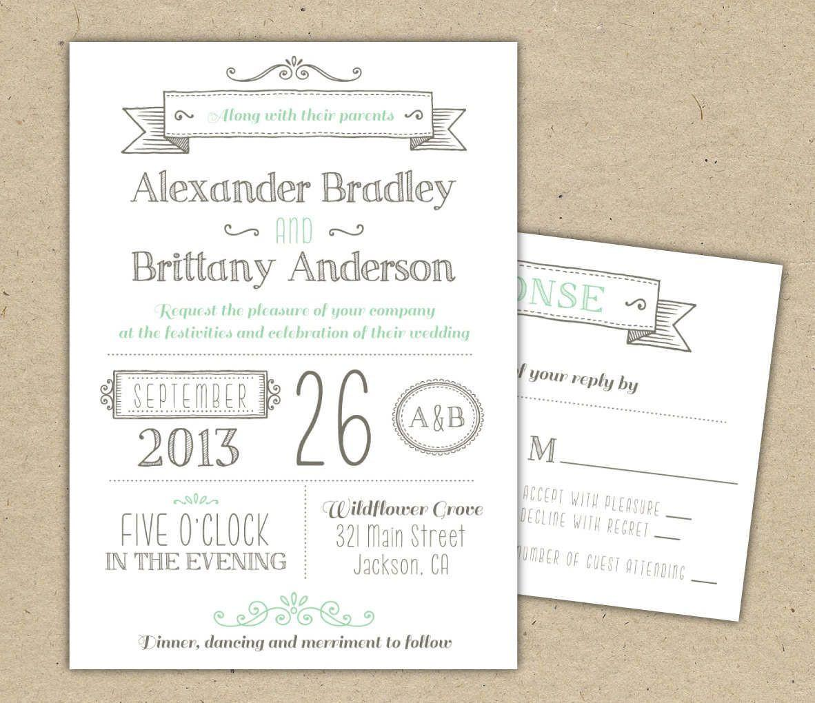 Free Printable Wedding Invitation Templates Download