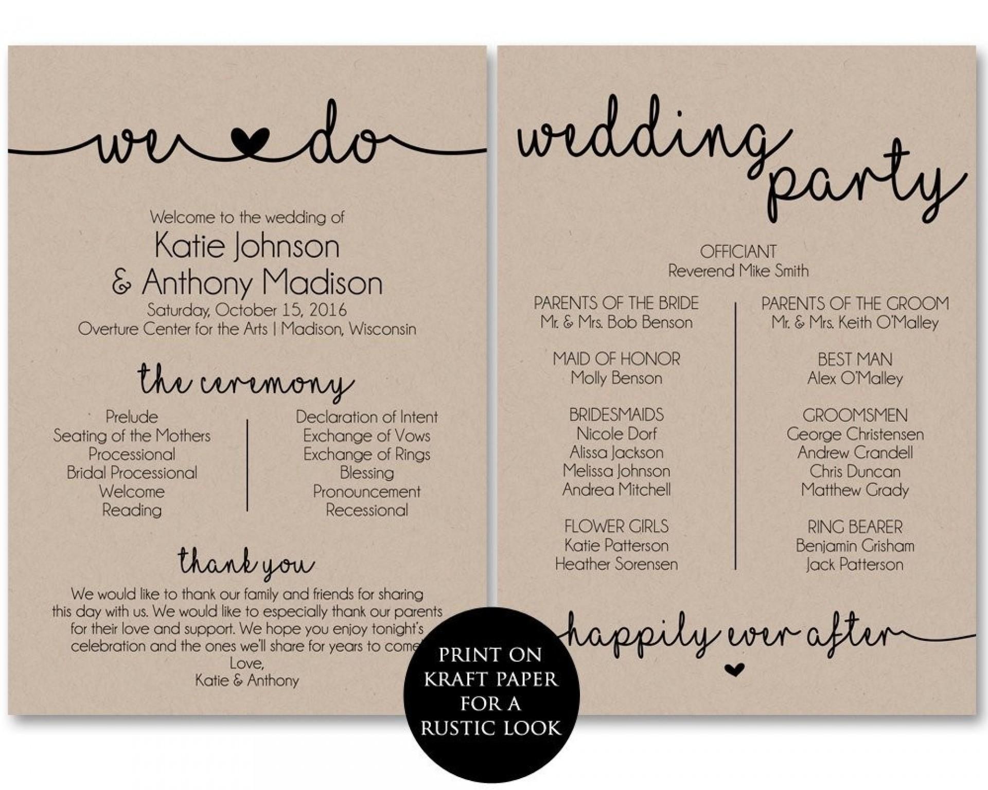 Free Printable Wedding Program Paddle Fan Templates