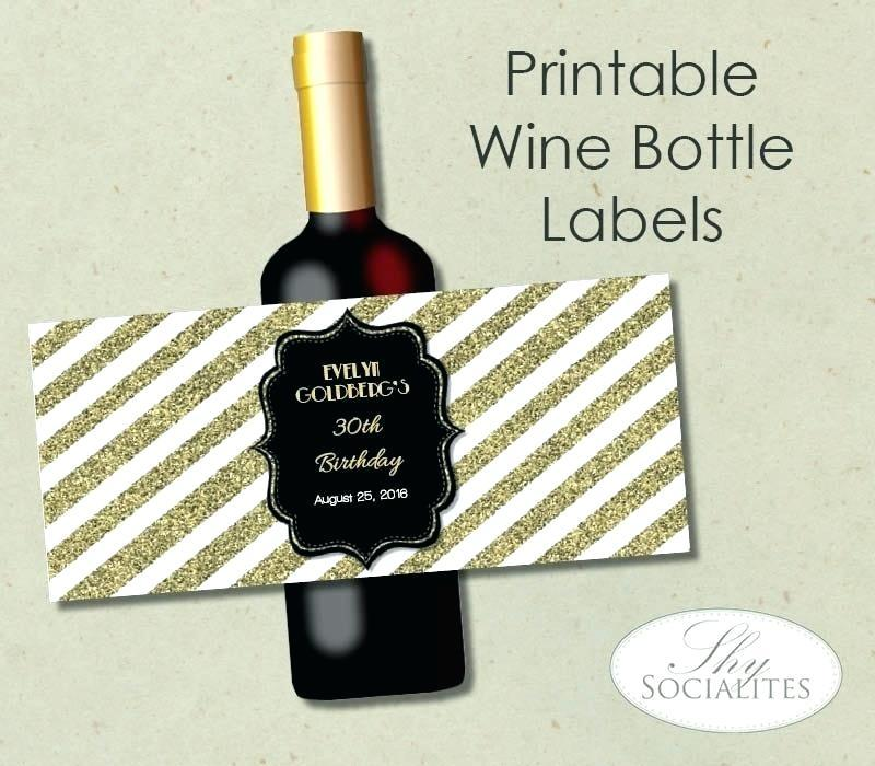 Free Printable Wine Bottle Labels Template