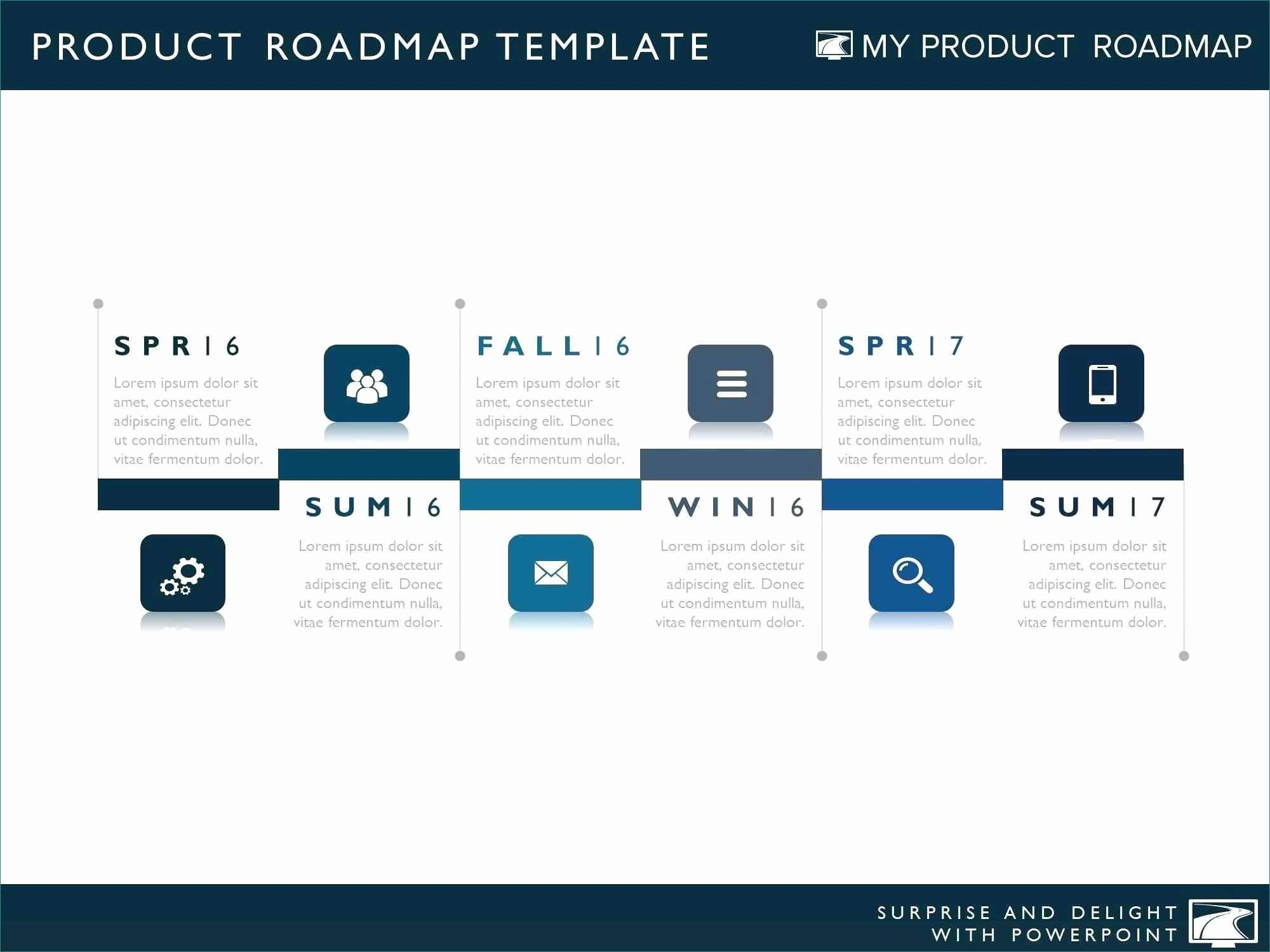 Free Product Roadmap Powerpoint Templates