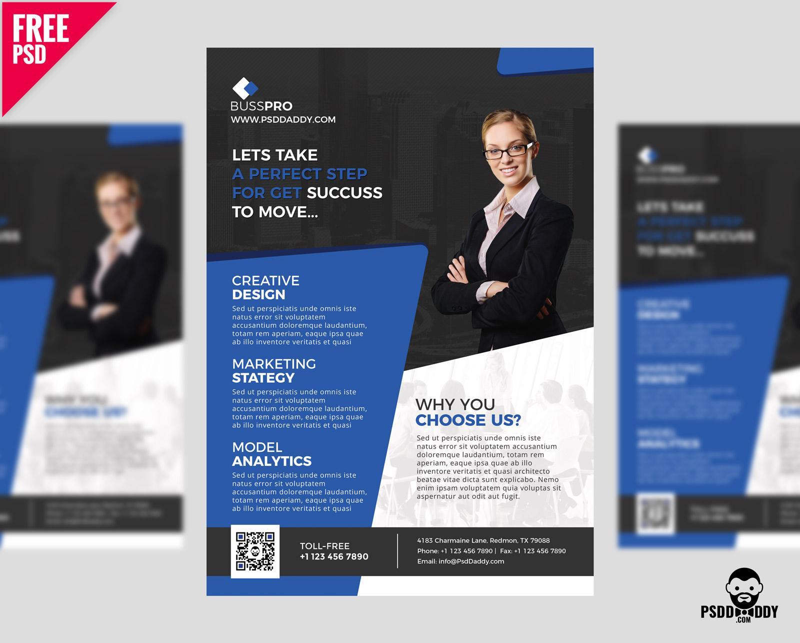 Free Psd Business Flyer Design Templates