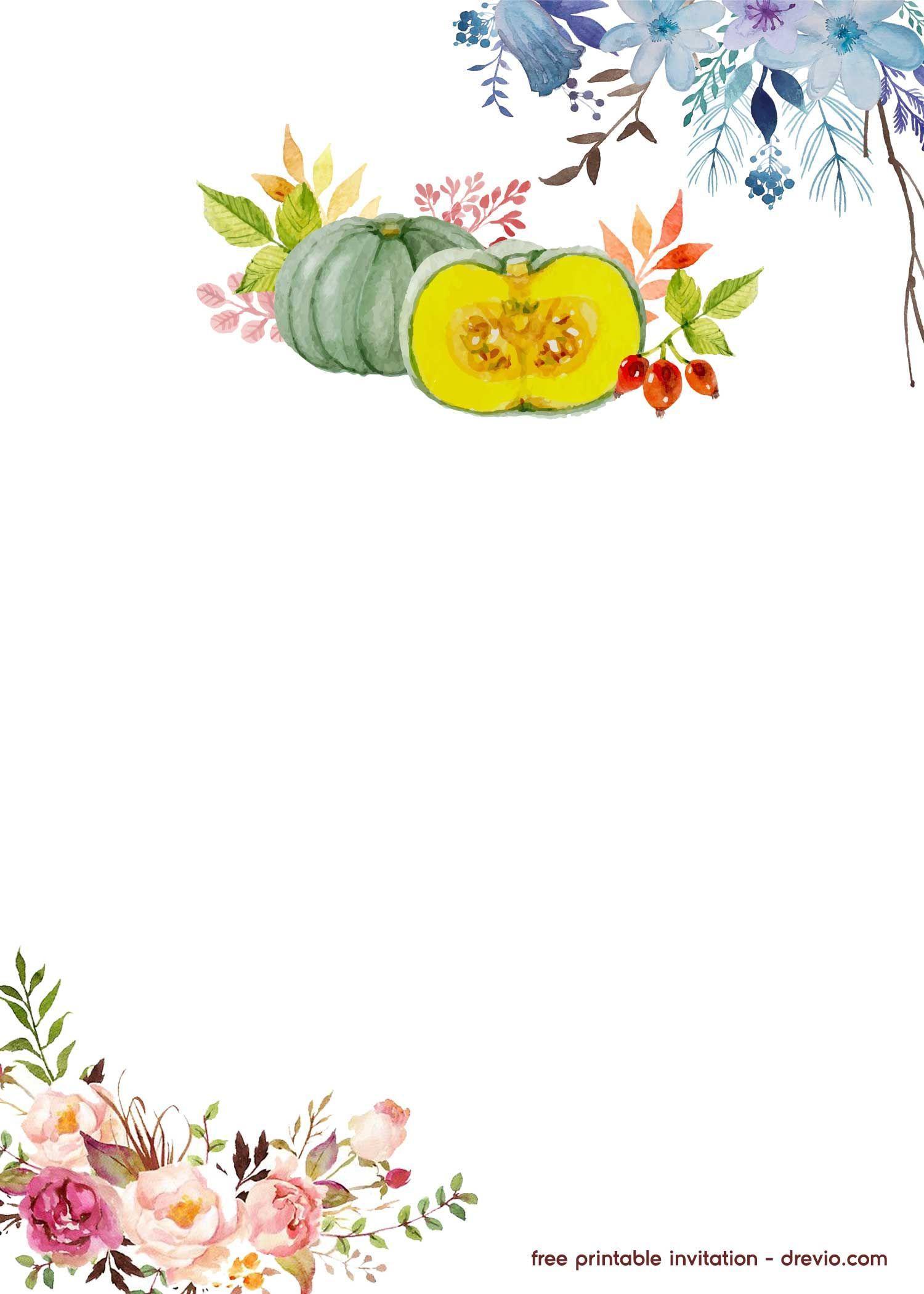Free Pumpkin Invitation Template