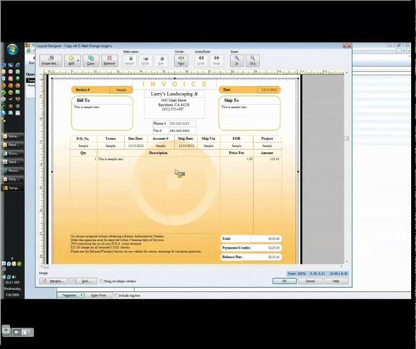 Free Quickbooks Invoice Templates
