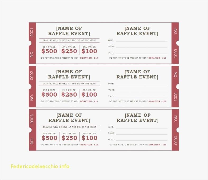 Free Raffle Ticket Design Templates