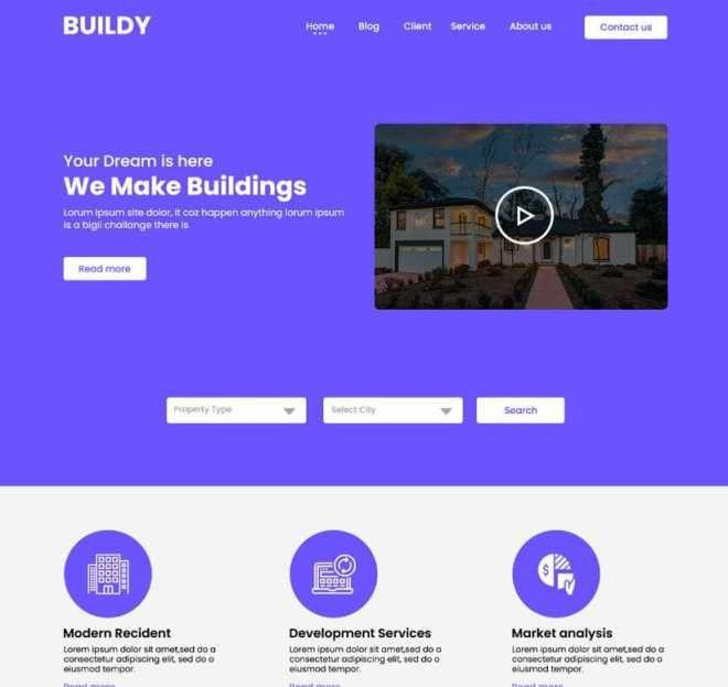 Free Real Estate Website Templates Psd