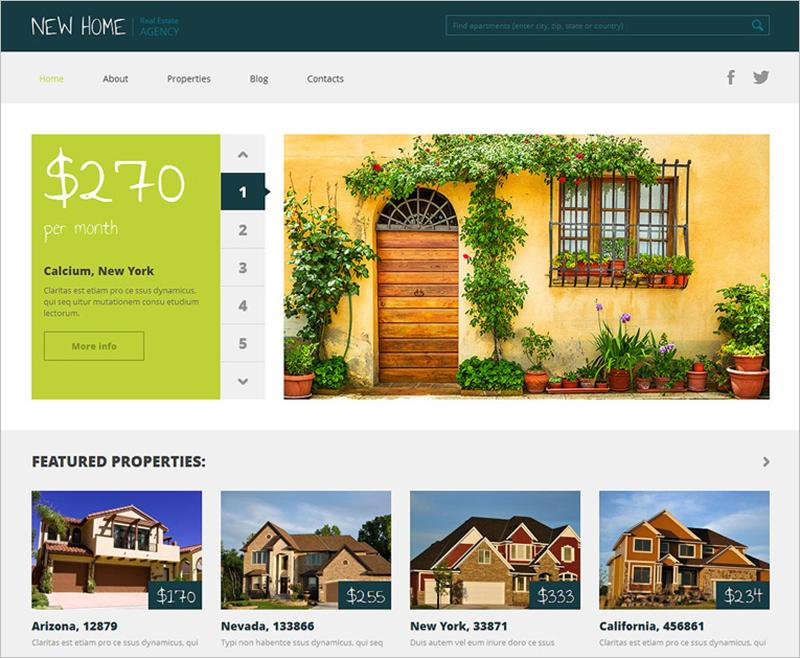 Free Real Estate Website Templates WordPress
