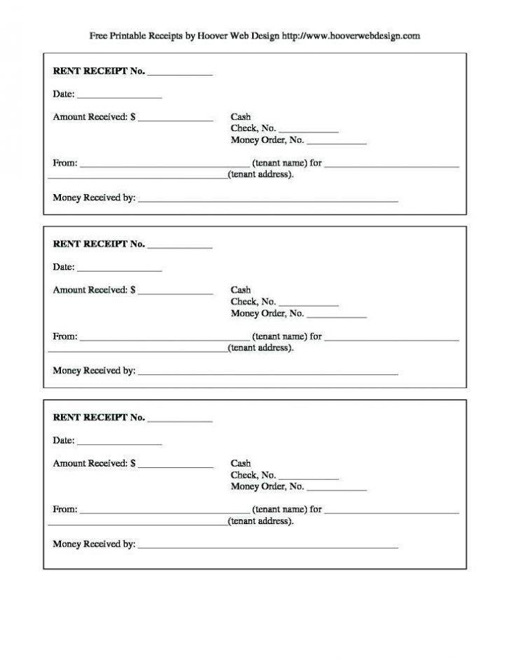 Free Receipt Book Template