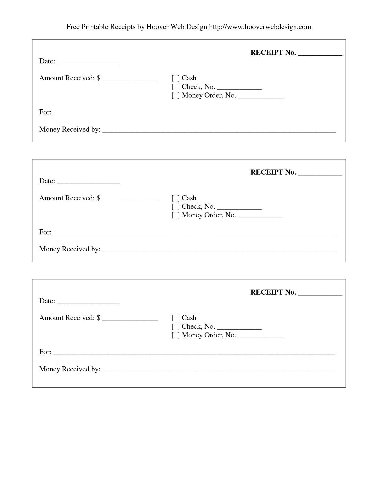 Free Receipt Template Printable