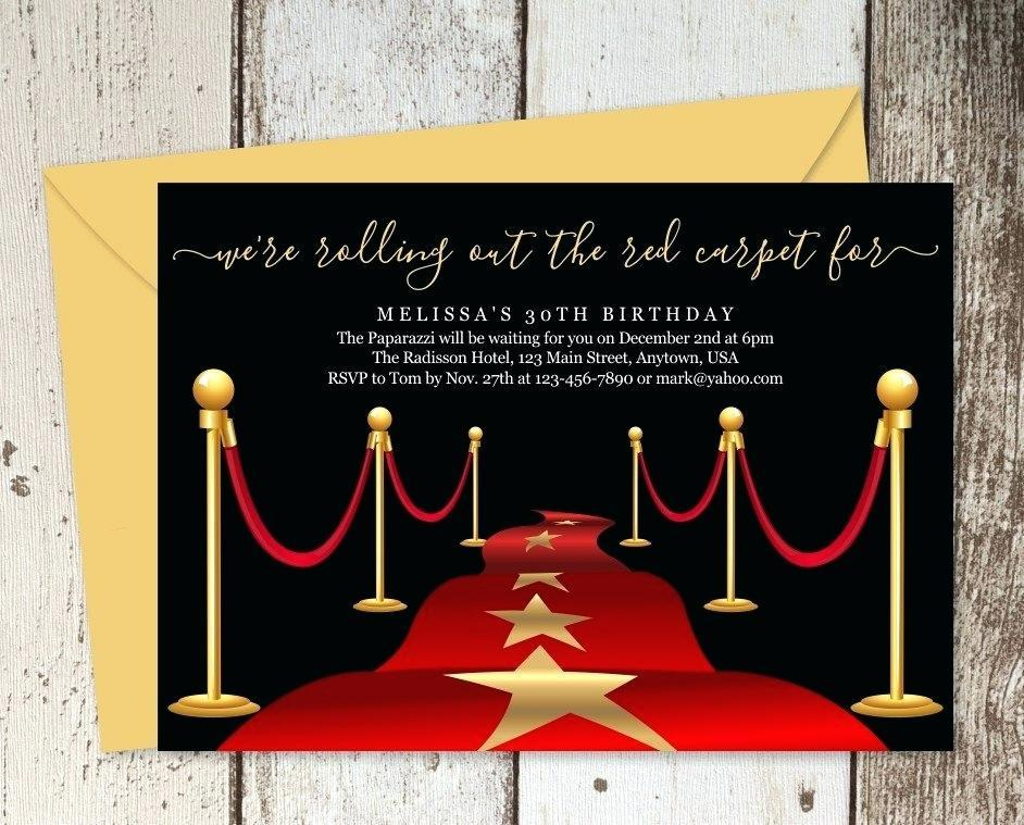 Free Red Carpet Event Invitation Templates