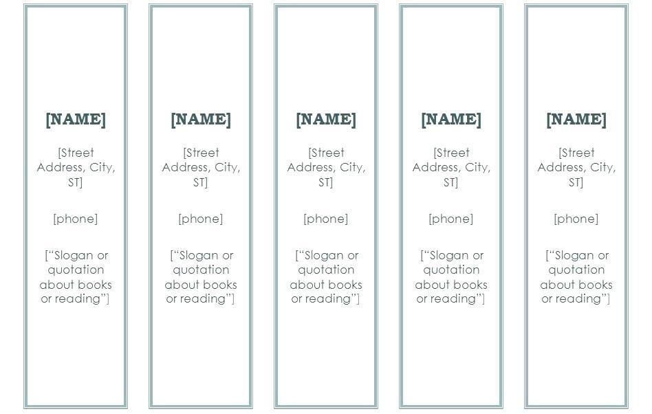 Free Religious Bookmark Templates