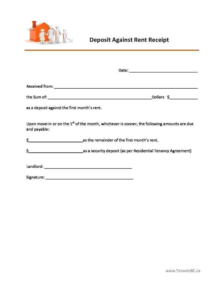 Free Rent Deposit Receipt Template