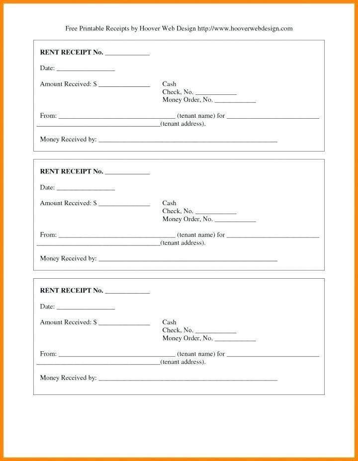 Free Rent Receipt Template India