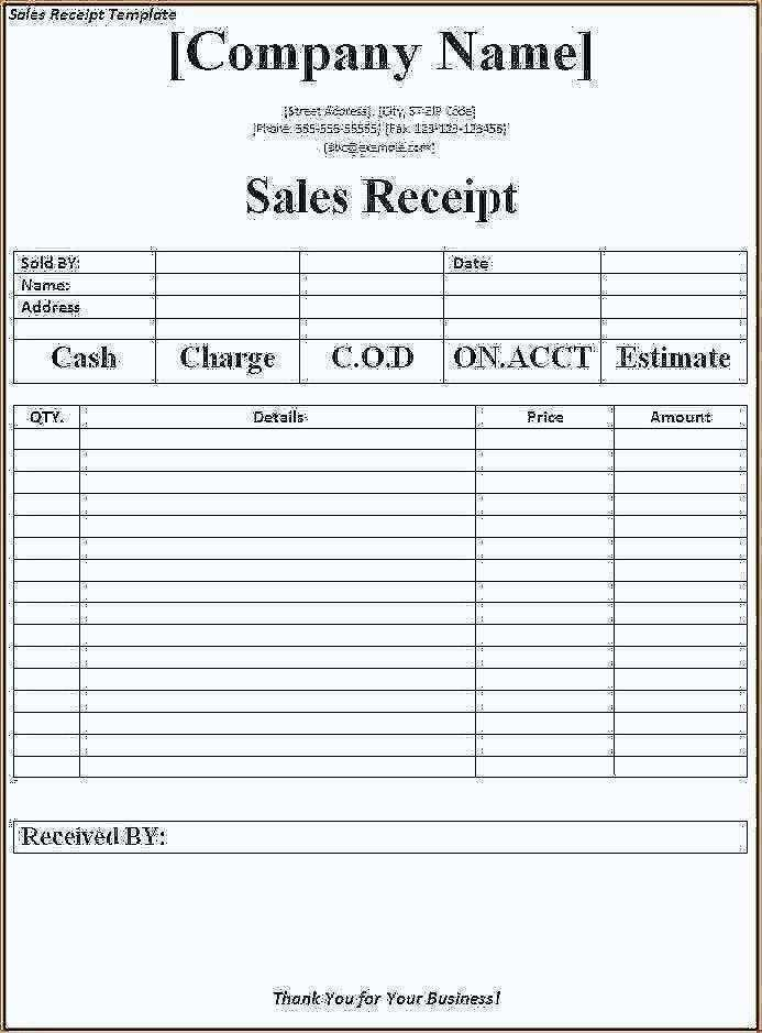 Free Rent Receipts Templates