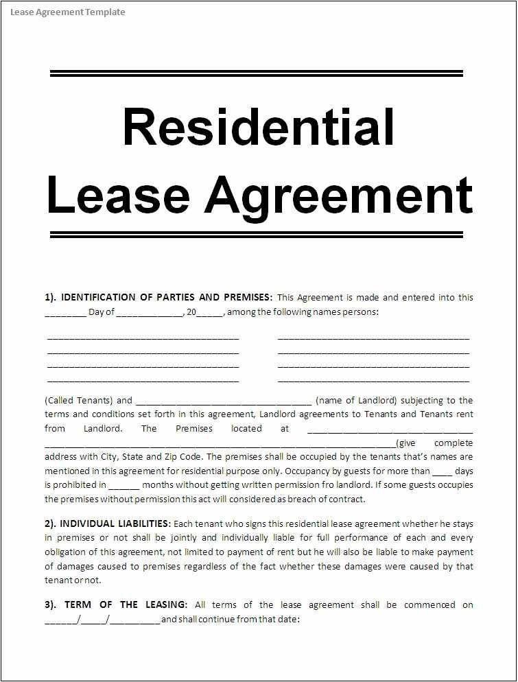 Free Rental Agreement Template Georgia