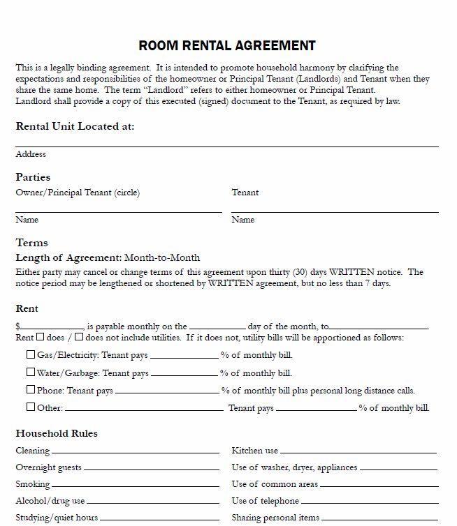 Free Rental Agreement Template Uk