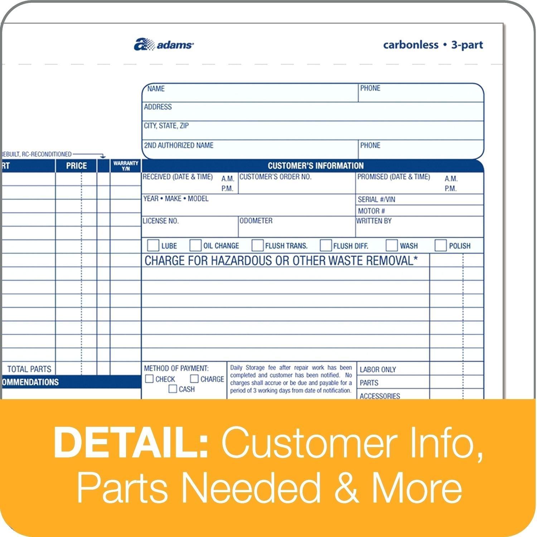 Free Repair Order Template