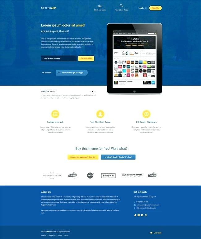 Free Responsive Splash Page Template