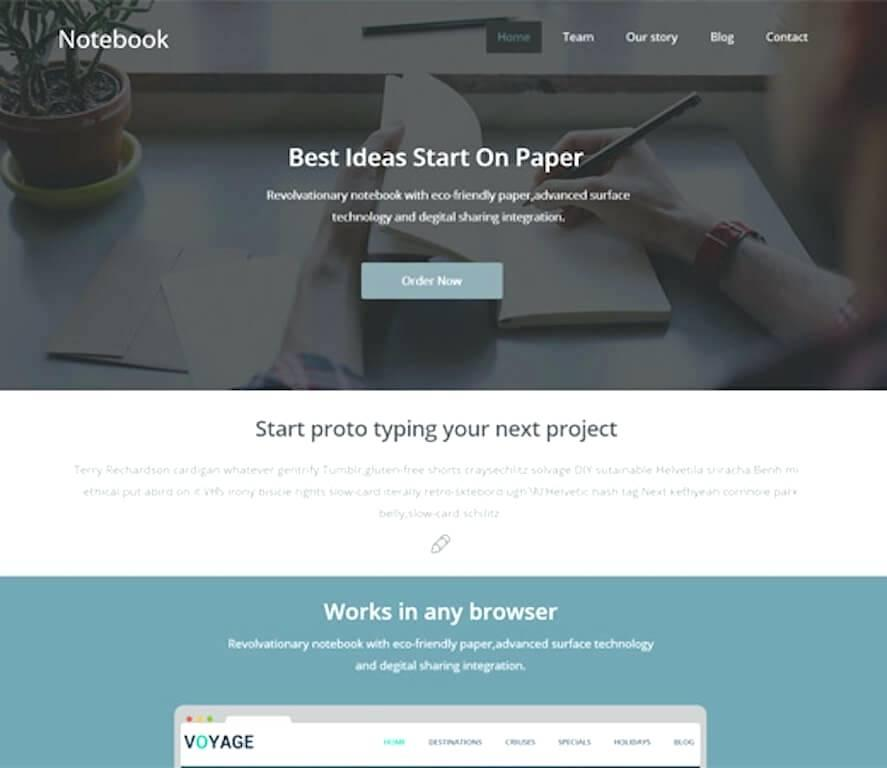 Free Responsive Squeeze Page Template