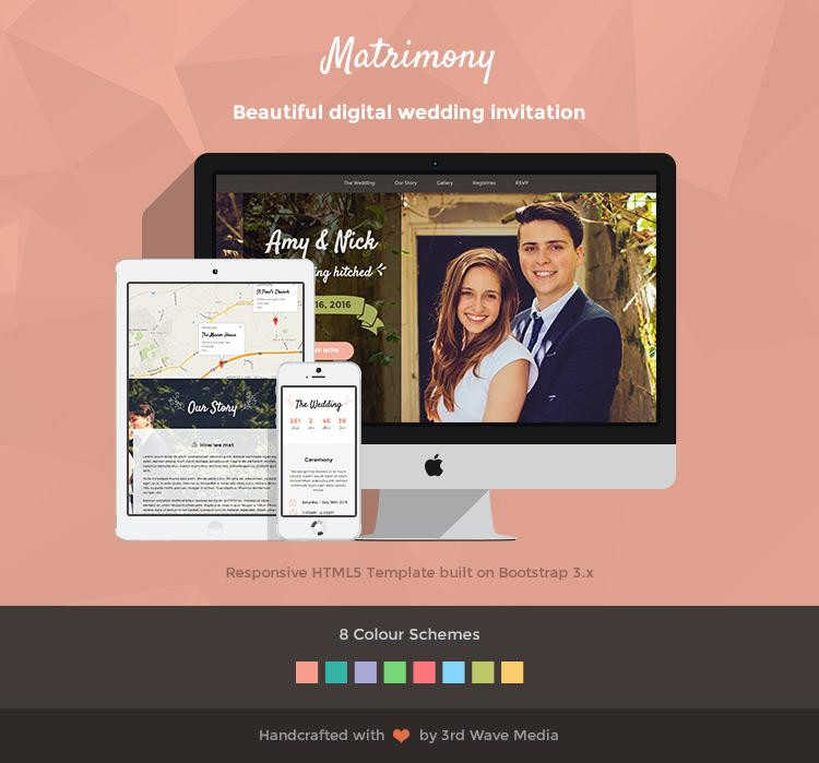 Free Responsive Wedding Website Templates