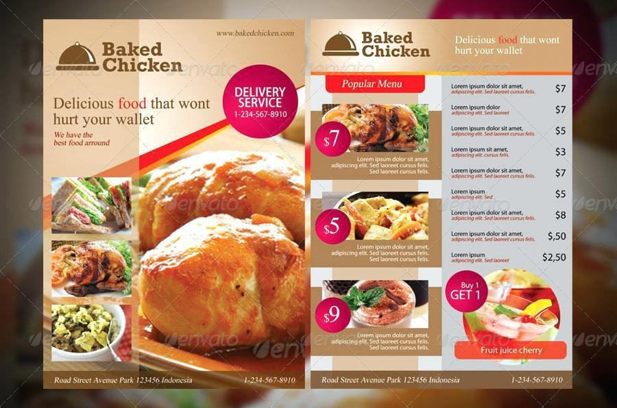 Free Restaurant Flyer Templates Photoshop