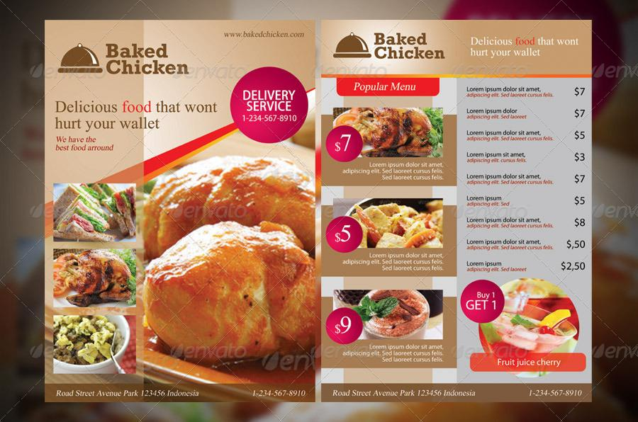 Free Restaurant Flyer Templates Psd