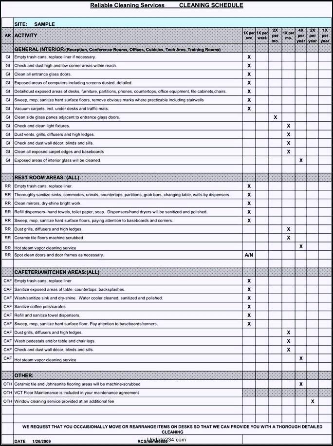 Free Restaurant Kitchen Cleaning Checklist Template