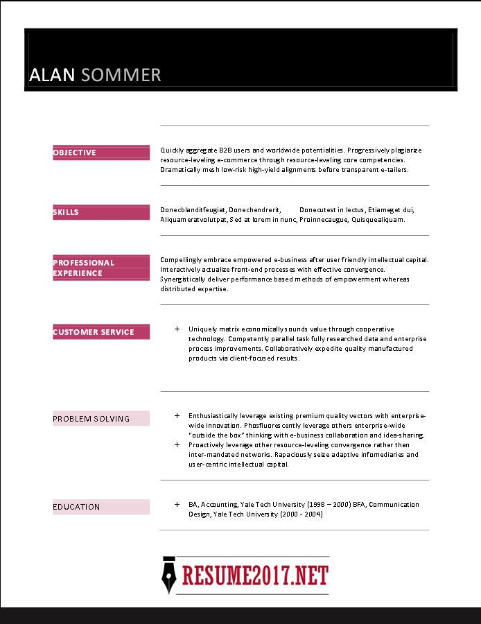 Free Resume Templates 2017 Word Download