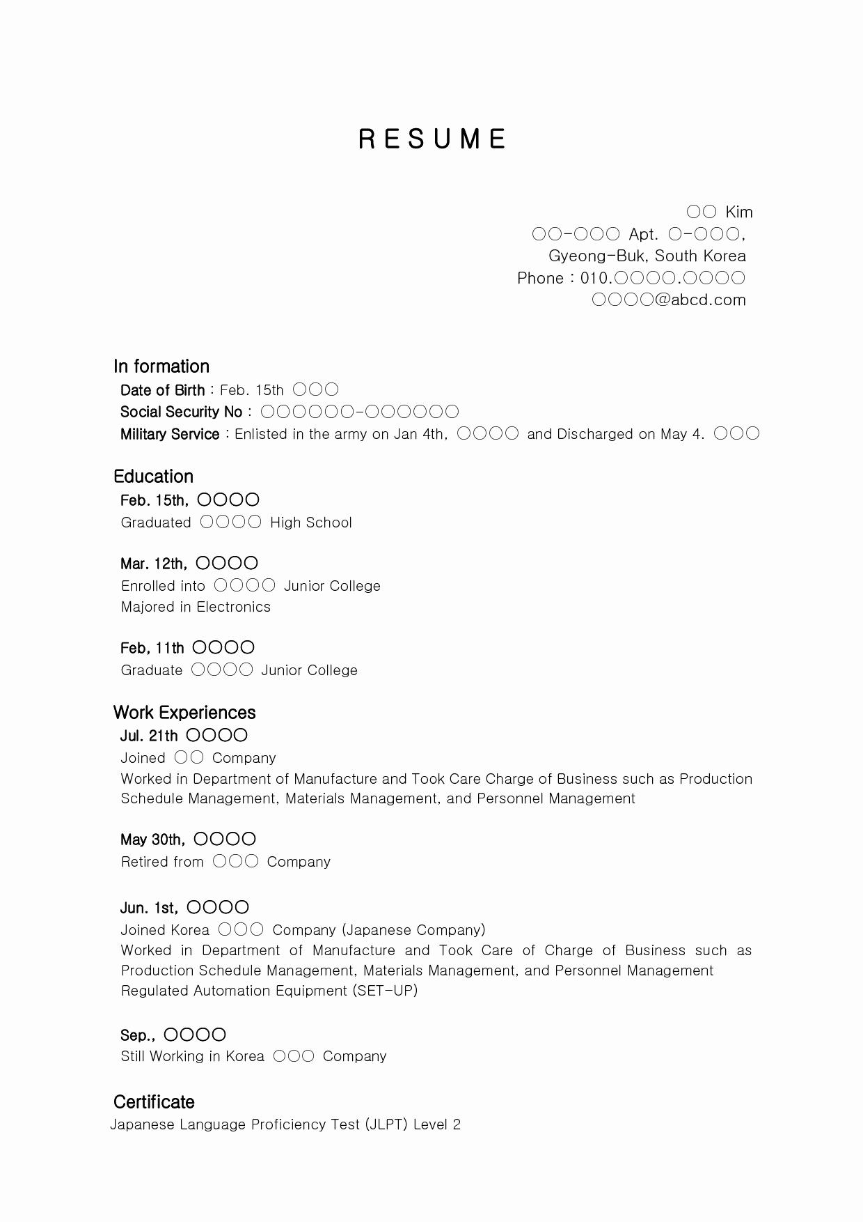 Free Resume Templates For Highschool Graduates
