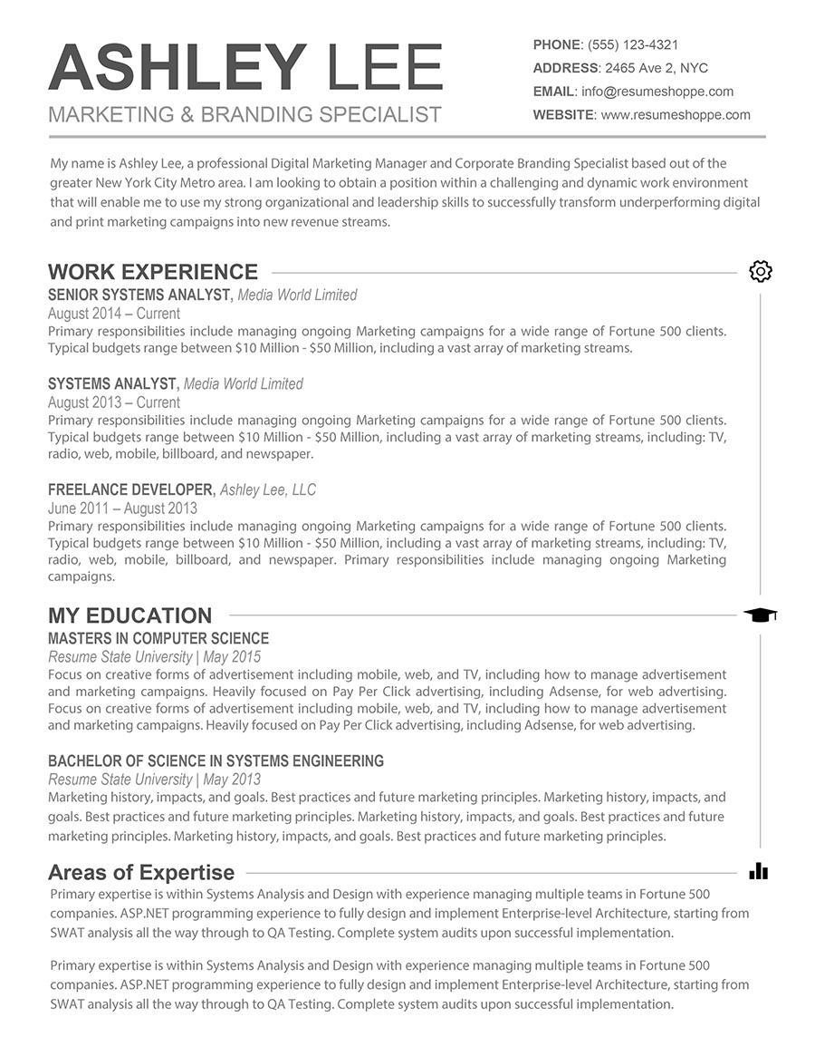 Free Resume Templates For Mac Word