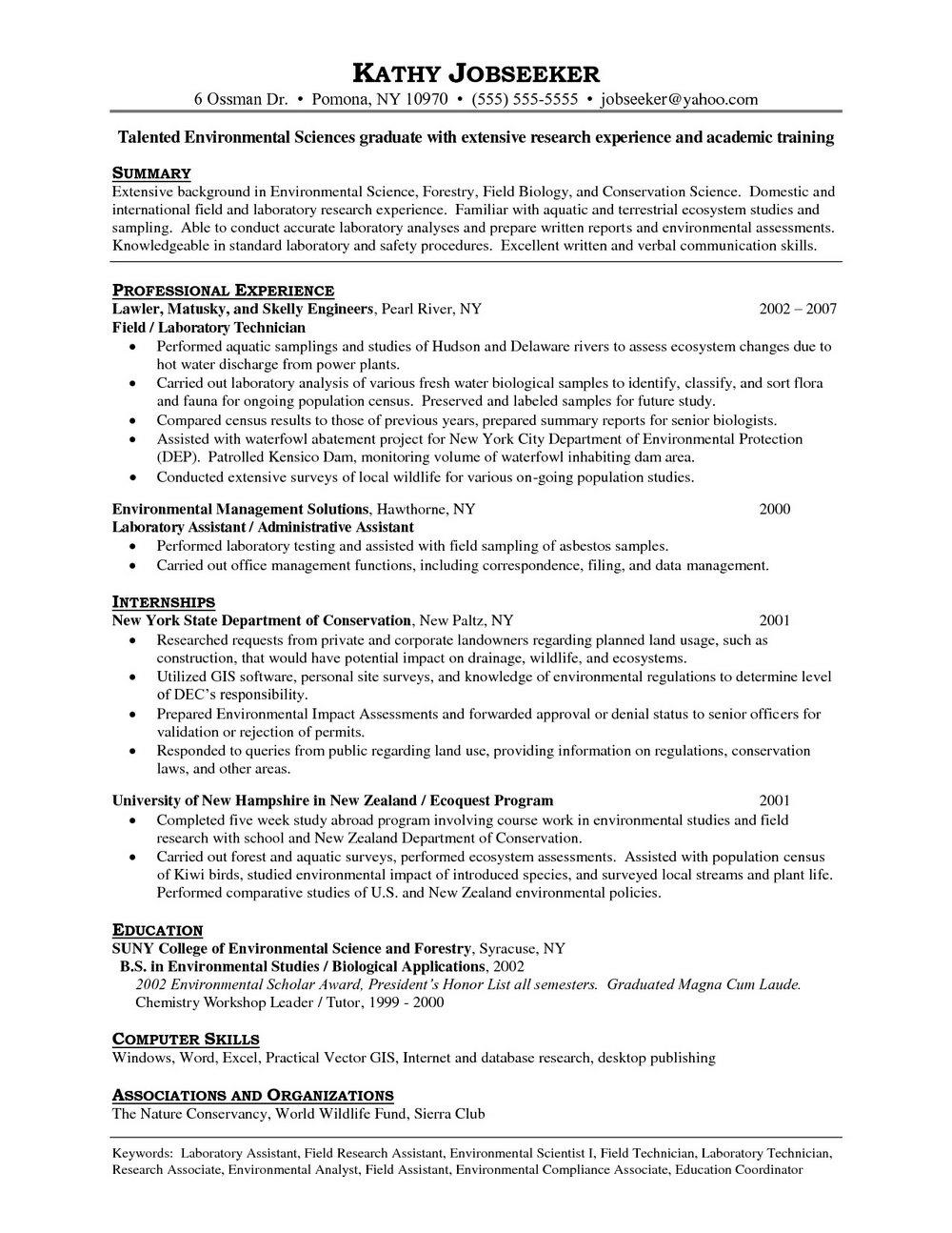 Free Resume Templates For Medical Technologist