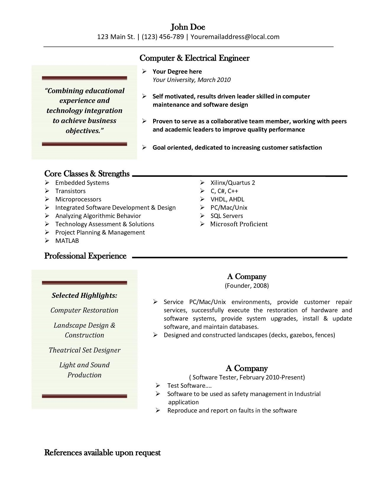Free Resume Templates Open Office