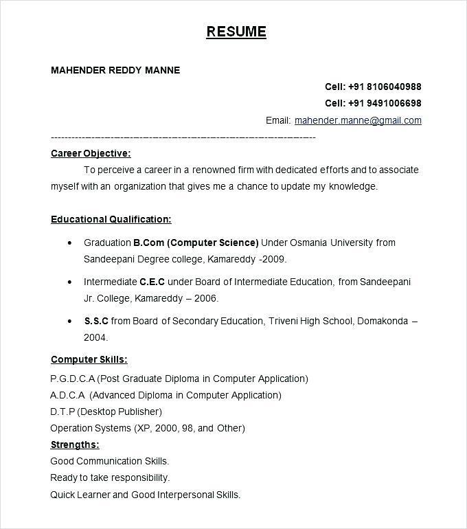 Free Resume Templates Word Malaysia