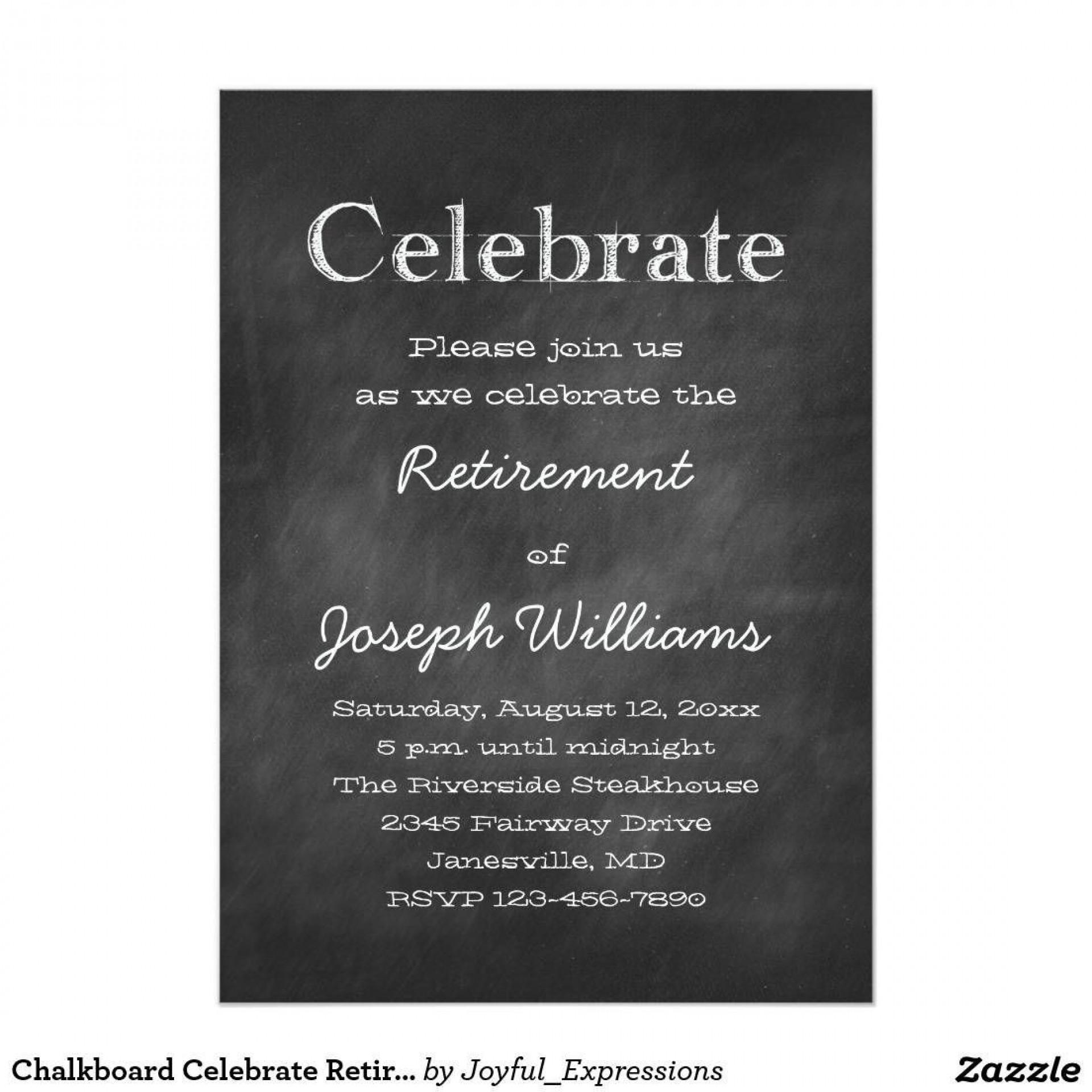Free Retirement Lunch Invitation Template