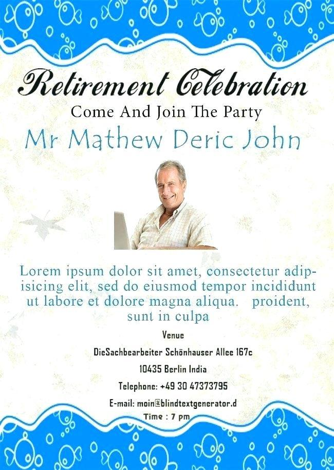 Free Retirement Party Flyers Templates