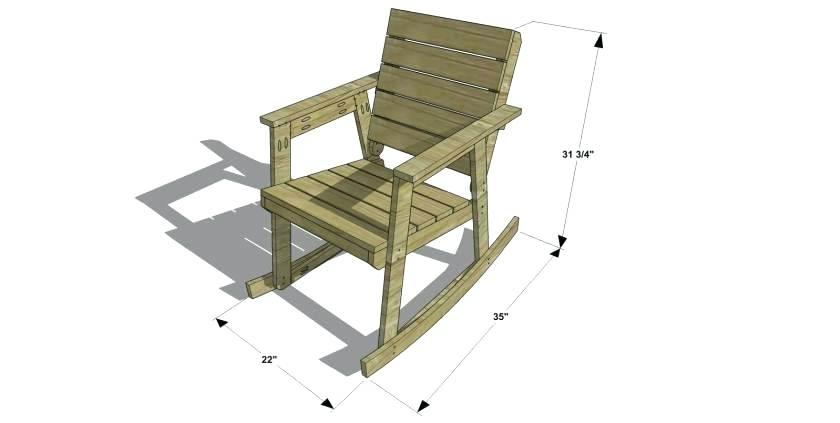 Free Rocking Chair Template
