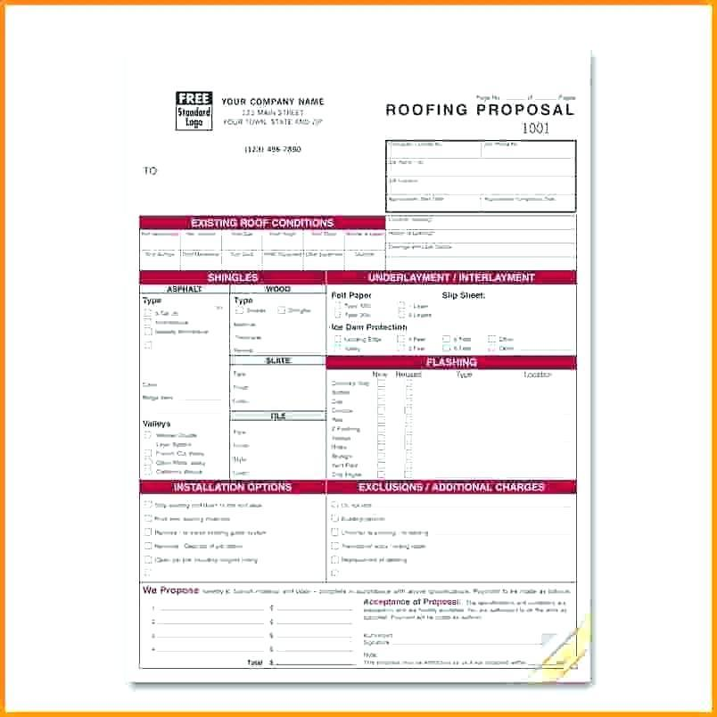 Free Roofing Invoice Forms
