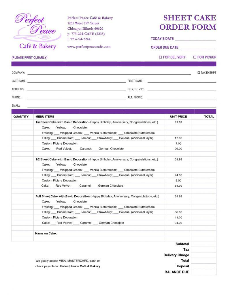 Free Sales Order Form Template Excel Download