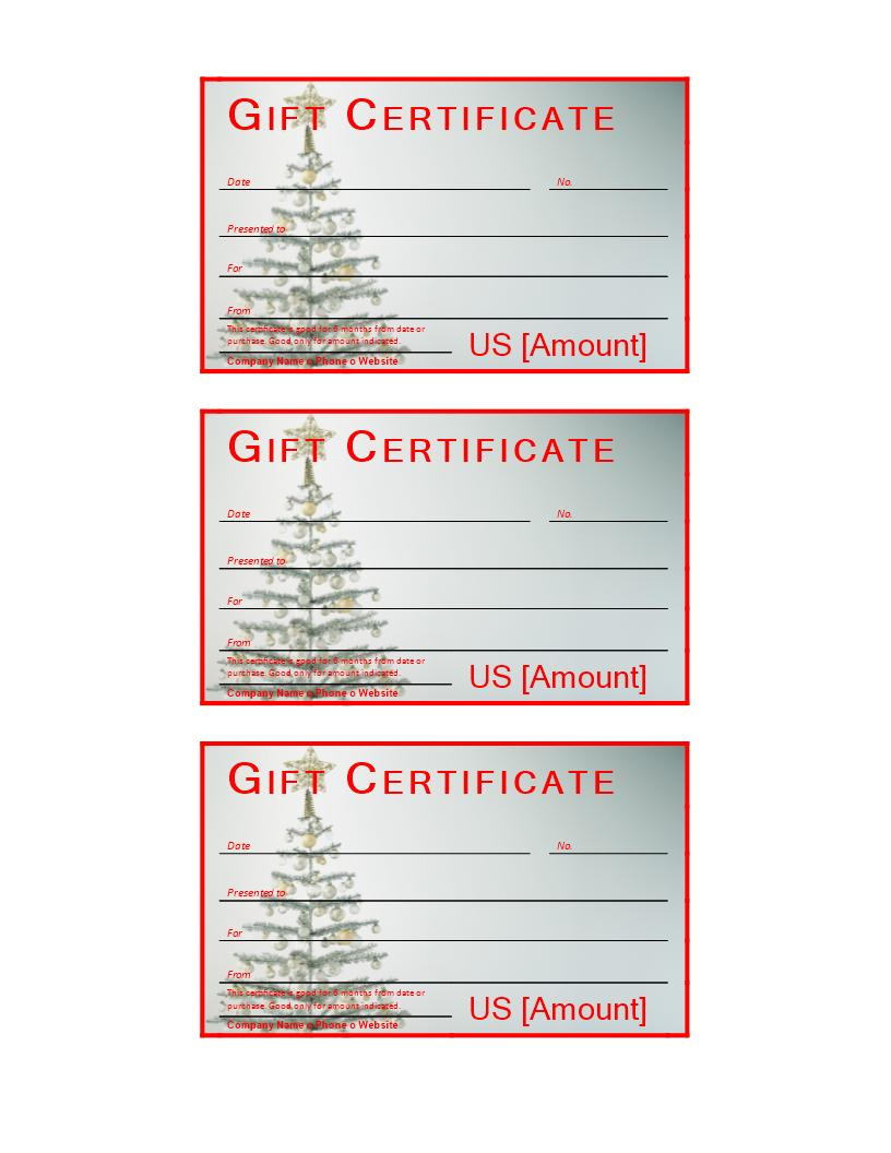 Free Sample Christmas Gift Certificate Templates
