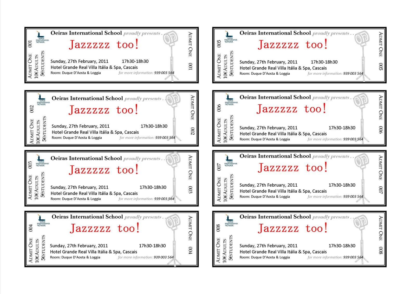 Free Sample Event Ticket Template