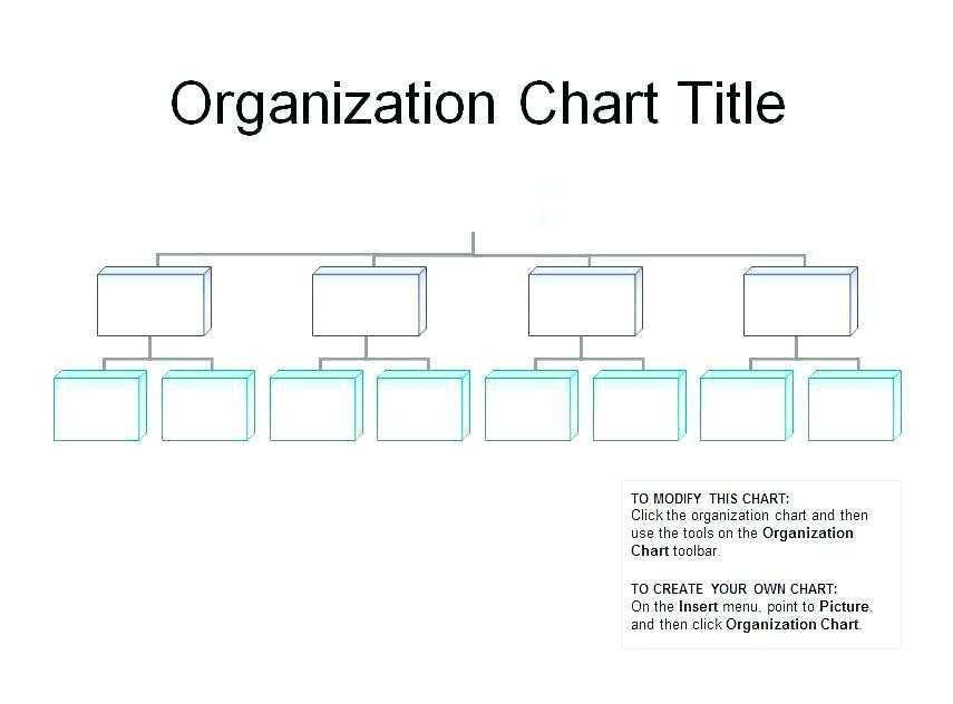 Free Sample Organizational Chart Template