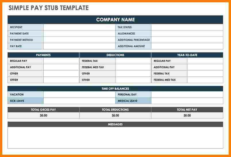 Free Samples Of Pay Stubs Templates