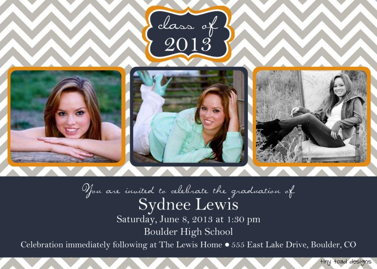 Free Senior Graduation Announcements Templates Photoshop