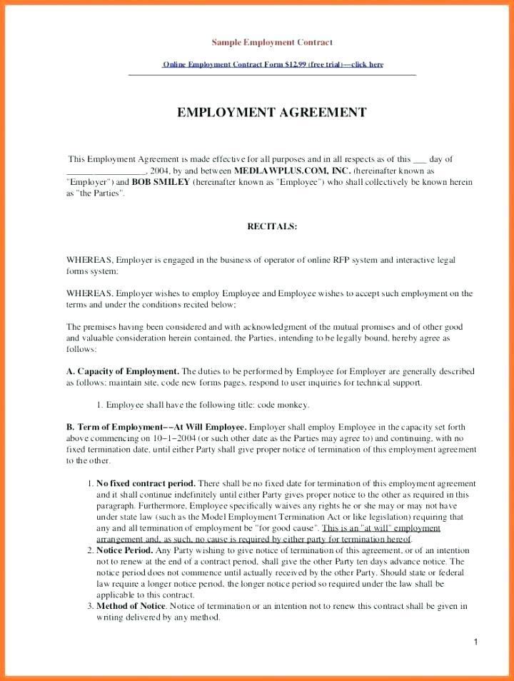 Free Separation Agreement Template Bc