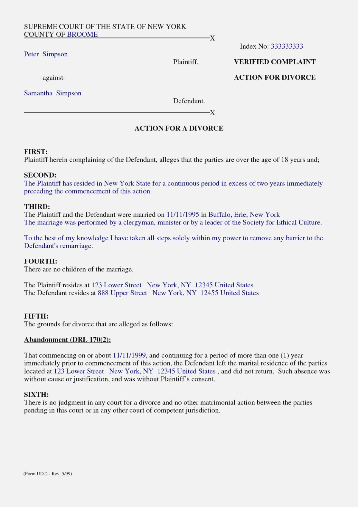 Free Separation Agreement Template England