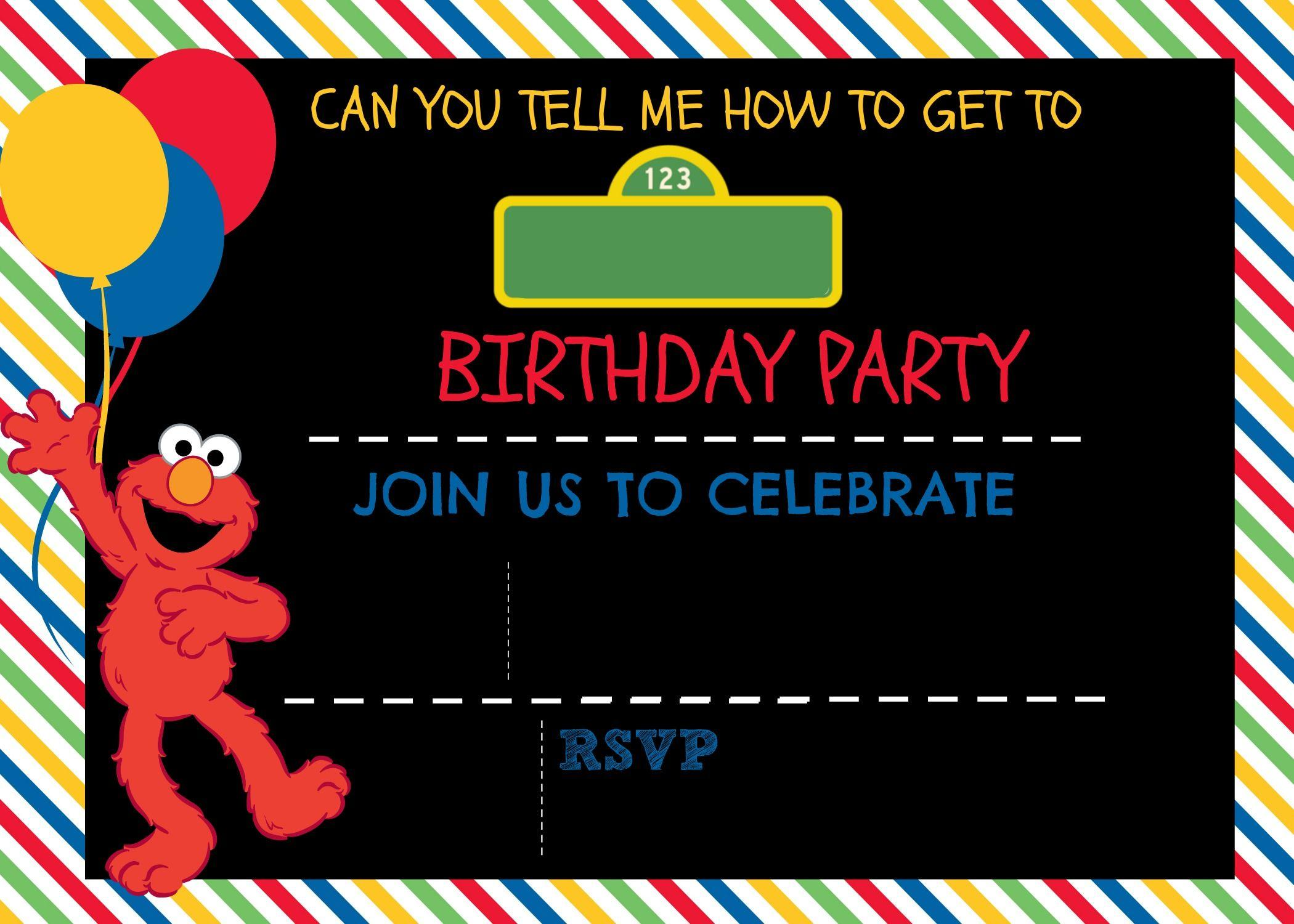 Free Sesame Street Photo Invitation Templates